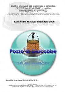 copertina bilancio 2009