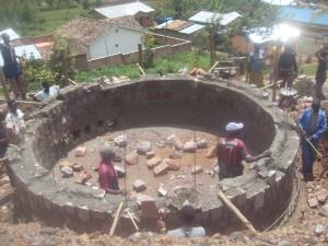 Citerne en cours de construction